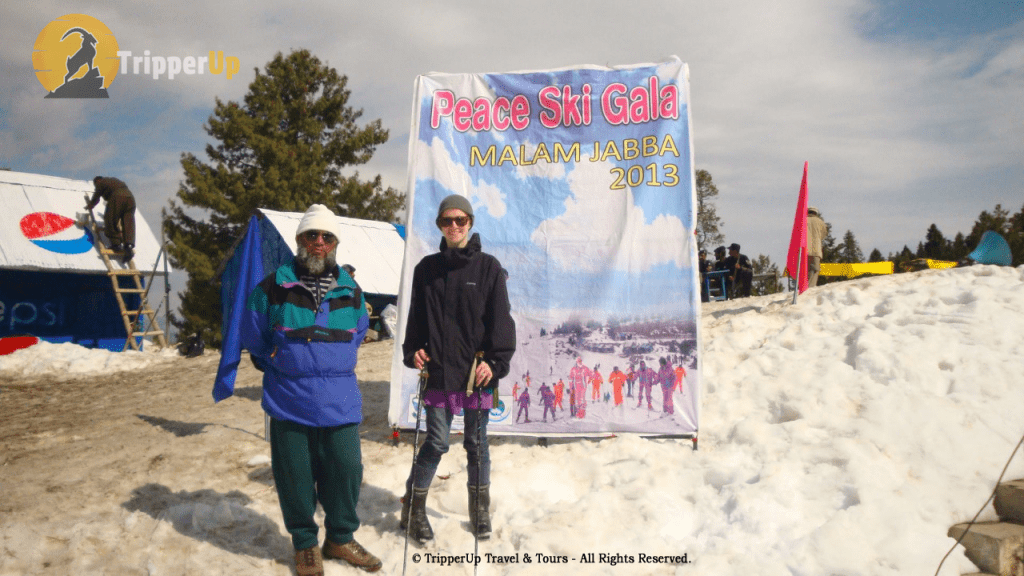 at Ski Gala Malam Jabba